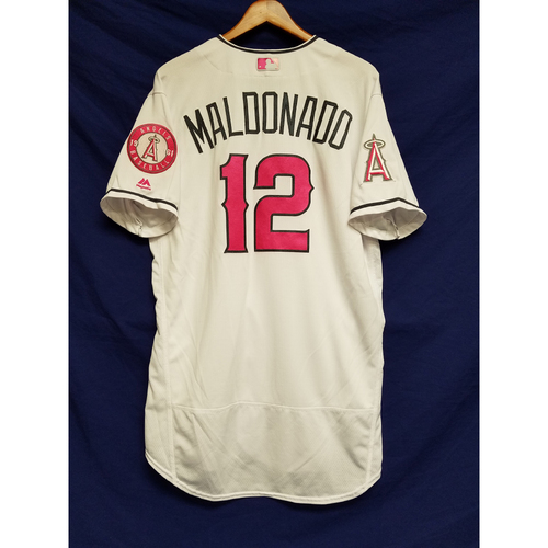 Photo of Martin Maldonado Game-Used Home Mother's Day Jersey