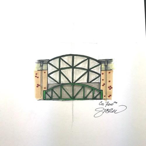 Photo of Citi Field Sketch - Limited Edition Print 42/42 by S. Preston