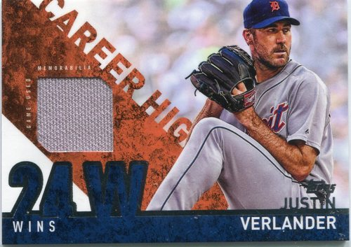 Photo of 2015 Topps Career High Relics Justin Verlander -- Astros post-season