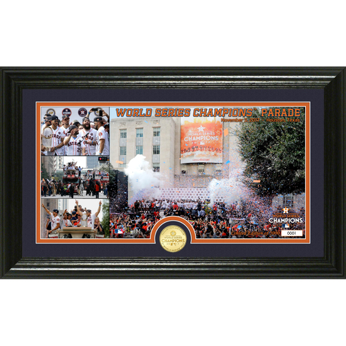 "Photo of Serial #1! Houston Astros 2017 World Series Champions ""Parade"" Panoramic Bronze Coin Photo Mint"