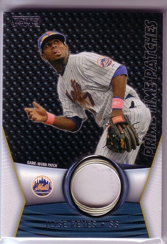 Photo of 2009 Topps Unique Primetime Patches #PTP96 Jose Reyes/99
