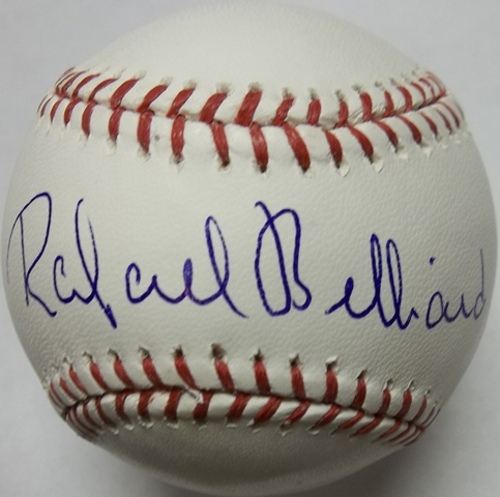 Photo of Rafael Belliard Autographed Baseball