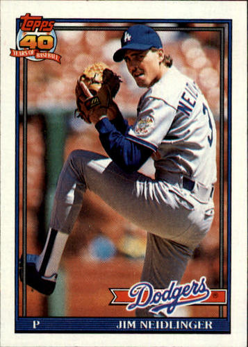 Photo of 1991 Topps #39 Jim Neidlinger RC