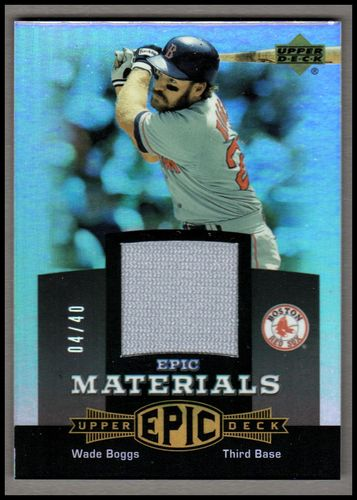 Photo of 2006 Upper Deck Epic Materials Grey #WB2 Wade Boggs Jsy/40