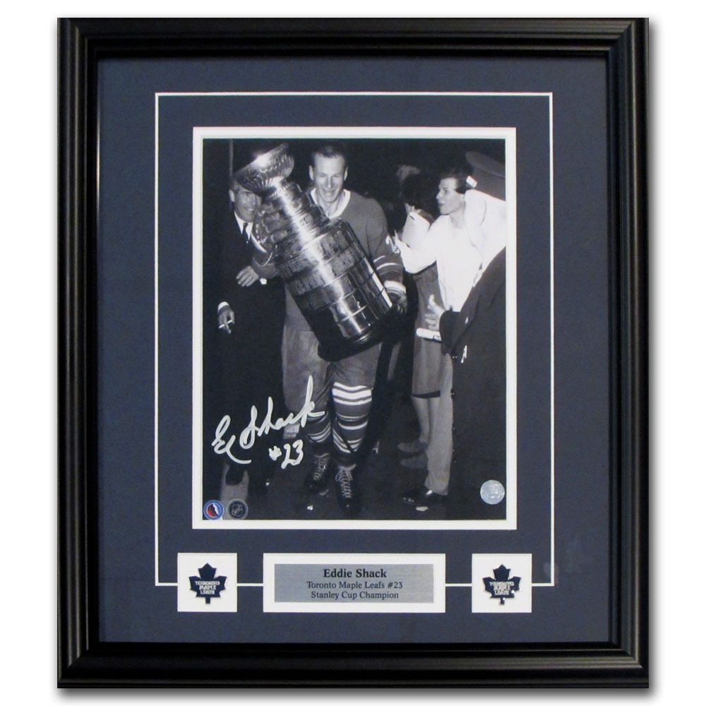 Eddie Shack Autographed Toronto Maple Leafs Framed 8X10 Photo