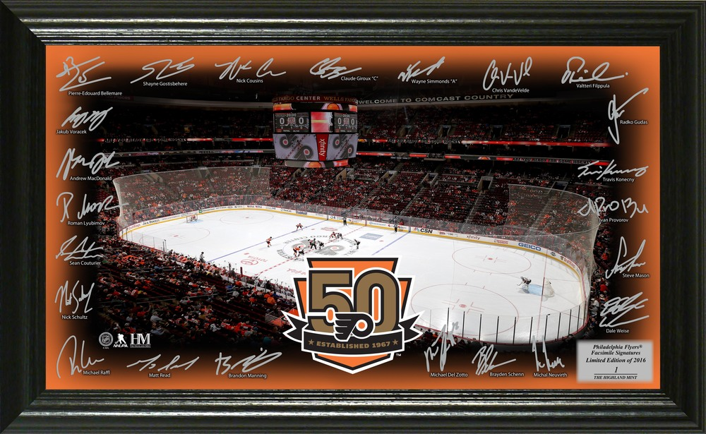 Serial #1 Philadelphia Flyers Signature Rink