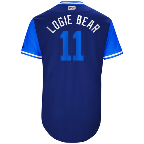 "Photo of Logan ""Logie Bear"" Forsythe Los Angeles Dodgers Game-Used Players Weekend Jersey"