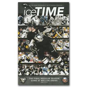 Pittsburgh Penguins April 8, 2010 Program - Final Regular Season Game at Mellon Arena