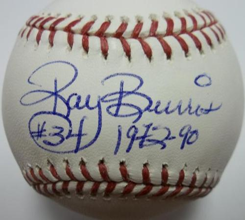 Photo of Ray Burris Autographed Baseball