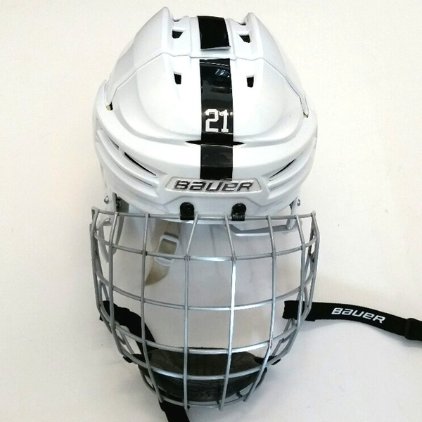 Penn State Game-Used Men's Ice Hockey Helmet (White #21)
