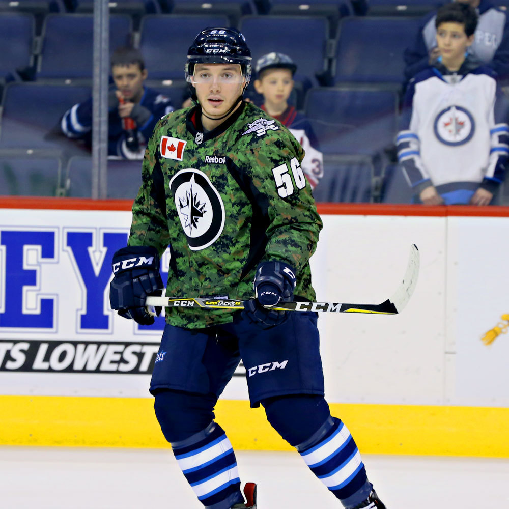 Marko Dano Winnipeg Jets Warm Up Worn Canadian Armed Forces jersey