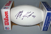 PATRIOTS - ROB GRONKOWSKI SIGNED PANEL BALL W/ PATRIOTS CHARITABLE FOUNDATION LOGO (SLIGHTLY SMUDGED)