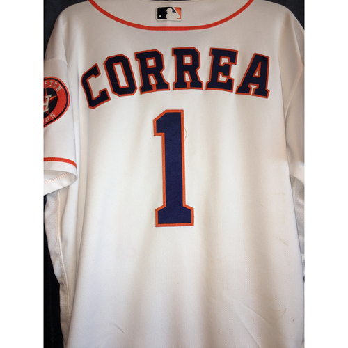Photo of Carlos Correa Game-Used Home Jersey