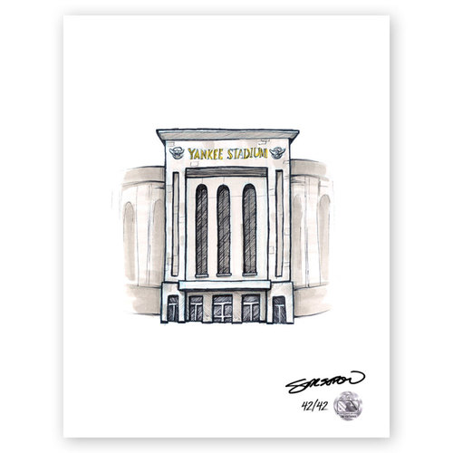 Photo of Yankee Stadium Sketch - Limited Edition Print 42/42 by S. Preston