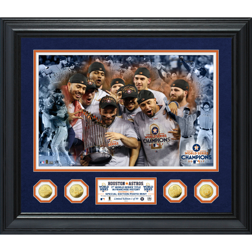 "Photo of Serial #1! Houston Astros 2017 World Series Champions ""Celebrations"" Special Edition 24kt Gold Coin Photo Mint"