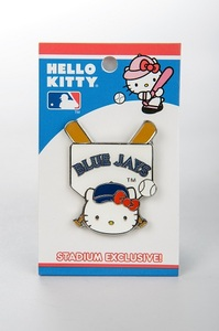 Hello Kitty Plate/Bat Lapel Pin
