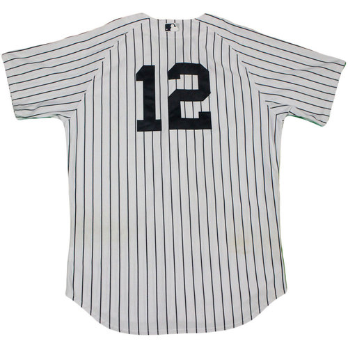 Photo of Chase Headley Jersey - NY Yankees 2015 Game-Used #12 Pinstripe Jersey (8/9/2015)(Size 48)
