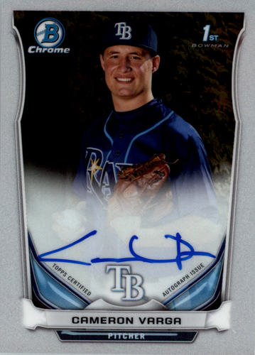 Photo of 2014 Bowman Chrome Draft Draft Pick Autographs #BCACVA Cameron Varga