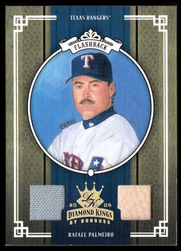 Photo of 2005 Diamond Kings Materials Gold #418 Rafael Palmeiro Rgr Bat-Jsy/50