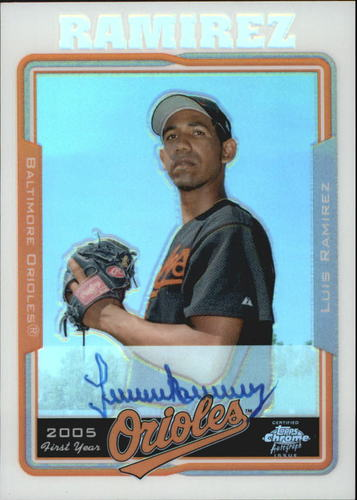 Photo of 2005 Topps Chrome Refractors #232 Luis Ramirez FY AU