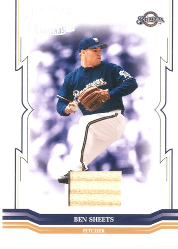 Photo of 2005 Throwback Threads Material Bat #164 Ben Sheets/250