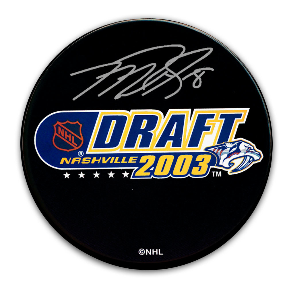 Mike Richards 2003 NHL Draft Day Autographed Puck Philadelphia Flyers