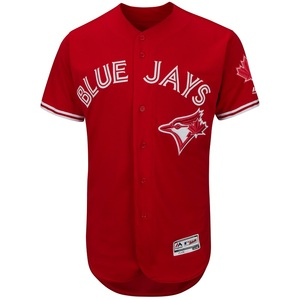 Toronto Blue Jays Authentic Collection Flex Base Alternate Red Jersey by Majestic