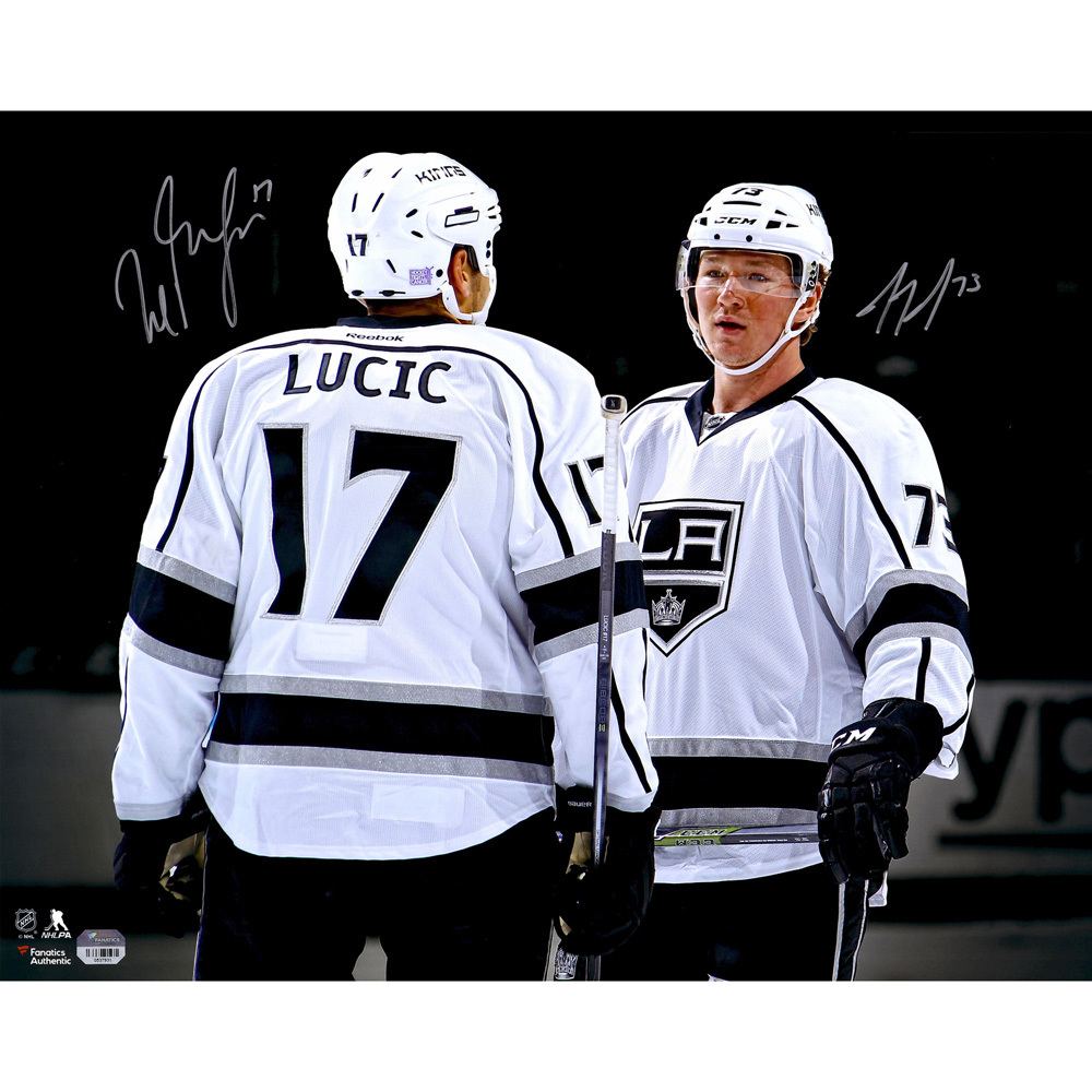 Milan Lucic, Tyler Toffoli Los Angeles Kings Autographed 16