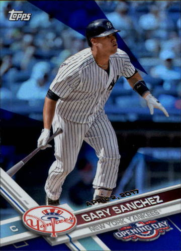 Photo of 2017 Topps Opening Day Blue Foil #170 Gary Sanchez