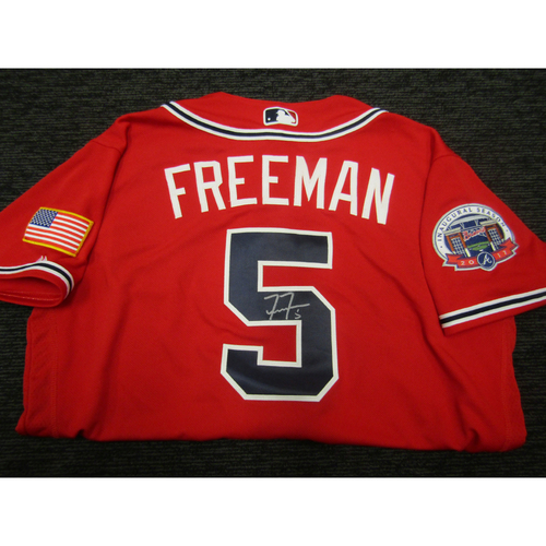 Photo of Braves Charity Auction - Freddie Freeman Team Issued & Autographed Braves Military Appreciation Jersey