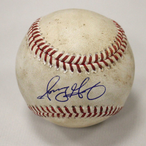 Photo of Sonny Gray Strikeout ball of Hank Conger (LAA) - Signed
