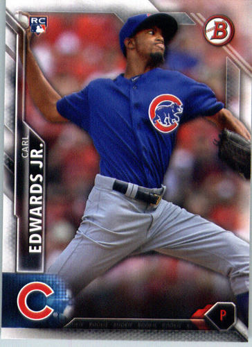 Photo of 2016 Bowman #124 Carl Edwards Jr. Rookie Card Cubs post-season