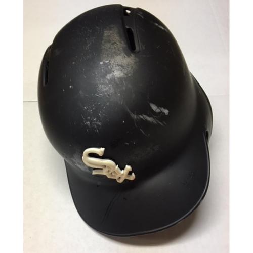 Photo of Tyler Saladino Team-Issued Black Matte Batting Helmet