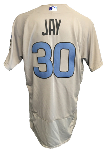 Photo of Jon Jay Game-Used Father's Day Jersey -- Cubs vs Pirates -- 6/17/17