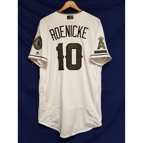 Photo of Ron Roenicke 2017 Game-Used Home Memorial Day Jersey