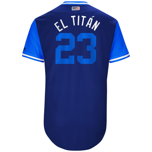 "Photo of Adrian ""El Titán"" Gonzalez Los Angeles Dodgers Game-Used Players Weekend Jersey"