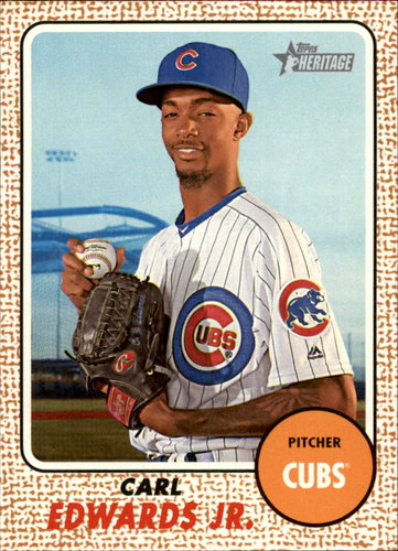 Photo of 2017 Topps Heritage #60 Carl Edwards Jr. Rookie Card Cubs post-season