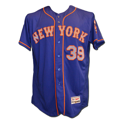 Jerry Blevins #39 - Game Used Blue Alternate Road Jersey - Mets vs. Phillies - 10/1/17