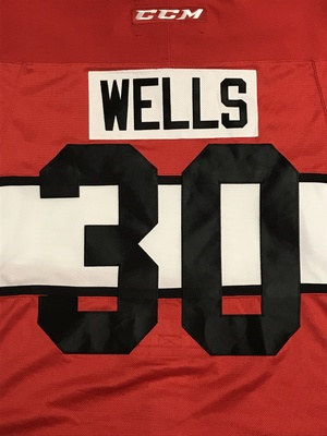 DYLAN WELLS 2017 CIBC CANADA RUSSIA SERIES GAME WORN JERSEY