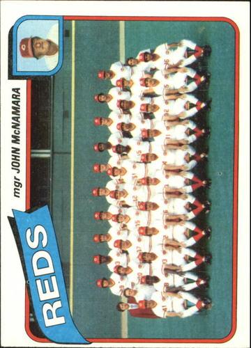 Photo of 1980 Topps #606 Cincinnati Reds CL/John McNamara MG