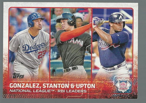 Photo of 2015 Topps #349 Justin Upton/Adrian Gonzalez/Giancarlo Stanton LL