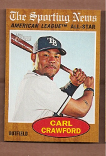 Photo of 2011 Topps Heritage #470 Carl Crawford AS SP