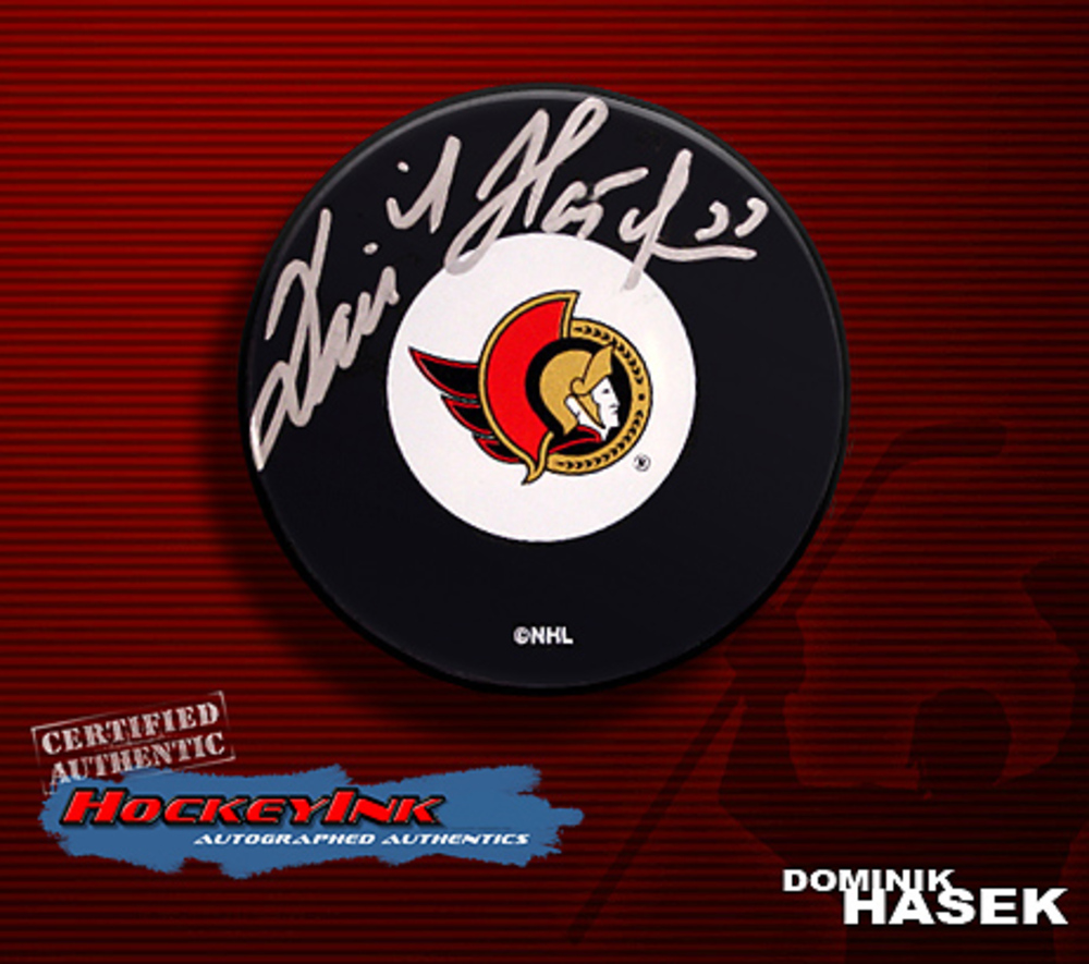 DOMINIK HASEK Signed Ottawa Senators Puck