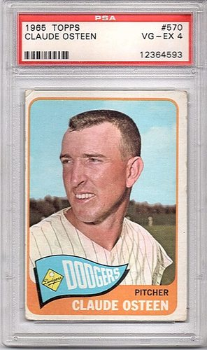 Photo of 1965 Topps #570 Claude Osteen SP PSA VgEx (4)