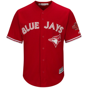 Toronto Blue Jays Cool Base Replica Alternate Red Jersey by Majestic
