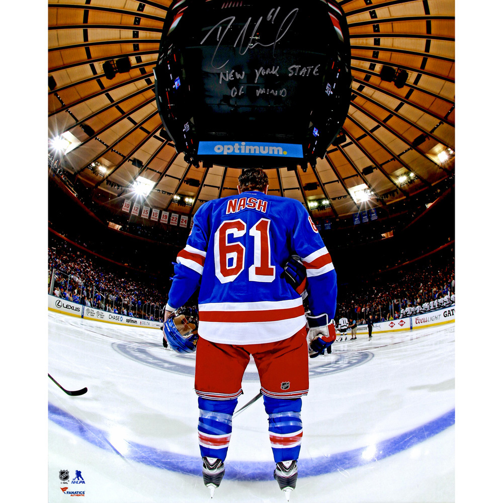 Rick Nash New York Rangers Autographed 16