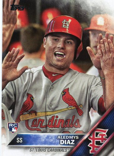 Photo of 2016 Topps Update #US292A Aledmys Diaz -- St. Louis Cardinals rookie card