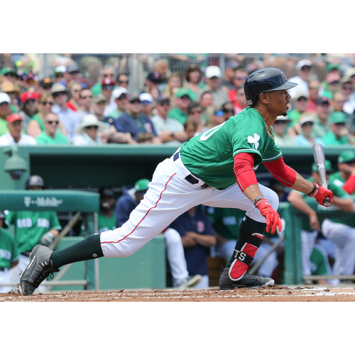 Photo of Red Sox Foundation St. Patrick's Day Jersey Auction - Mookie Betts Game-Used & Autographed Jersey