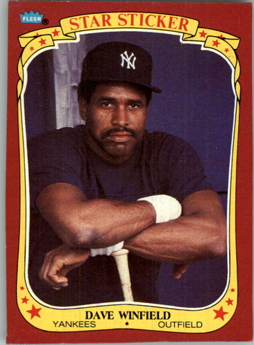 Photo of 1986 Fleer Stickers Wax Box Cards #S4 Dave Winfield