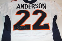 STS - BRONCOS C. J. ANDERSON GAME ISSUED AND SIGNED BRONCOS JERSEY (NOVEMBER 13 2016)